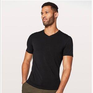 """Lululemon Men's black """"5 Year Basic V"""" t-shirt"""